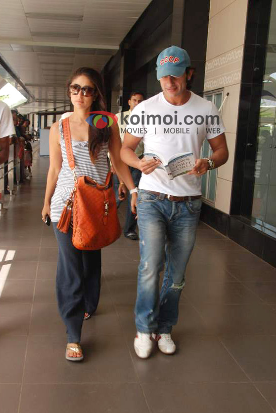 Saif Ali Khan, Kareena Kapoor, Back From IIFA
