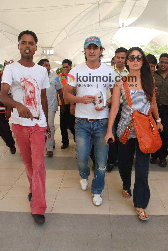 Saif Ali Khan, Kareena Kapoor Back From IIFA