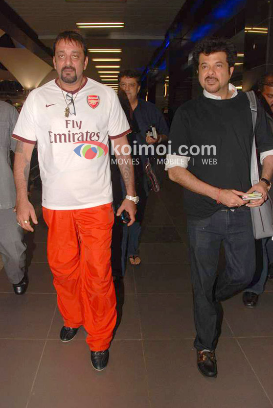 Sanjay Dutt, Anil Kapoor Back From IIFA