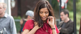 Freida Pinto: Muse In The Red Dress