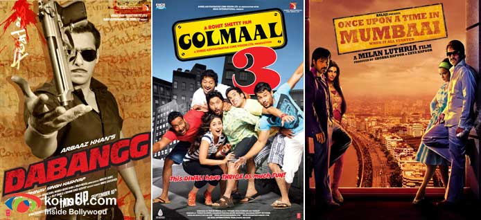 Dabangg Movie Poster, Golmaal 3 Movie Poster, Once Upon A Time In Mumbaai Movie Poster
