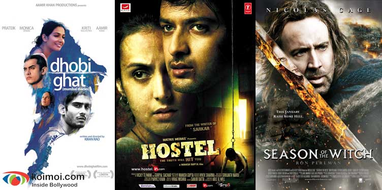 Dhobi Ghat Movie Poster, Hostel Movie Poster, Season Of The Witch Movie Poster