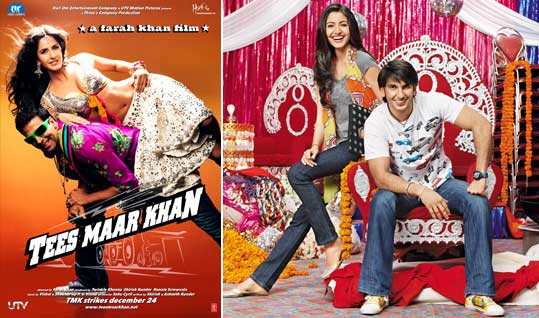 Tees Maar Khan Movie Poster, Band Baaja Baaraat Movie Poster