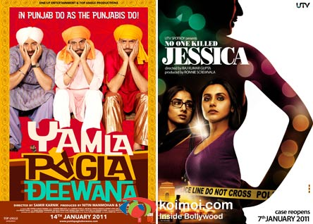 Yamla Pagla Deewana Movie Poster, No One Killed Jessica Movie Poster