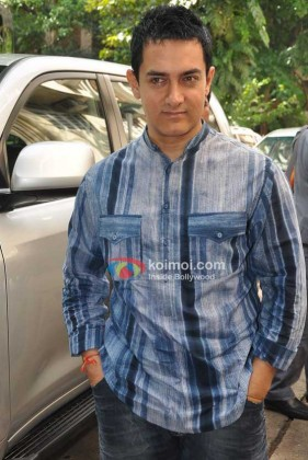 Aamir Khan At 'Double Dhamaal' Movie Mahurat
