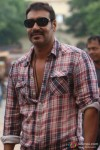 Ajay Devgan smiles on the sets of Bol Bachchan Movie Stills