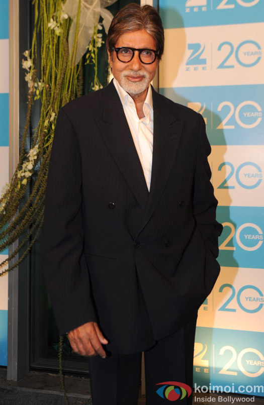 Amitabh Bachchan at the Zee TV 20 Years Celebration Party