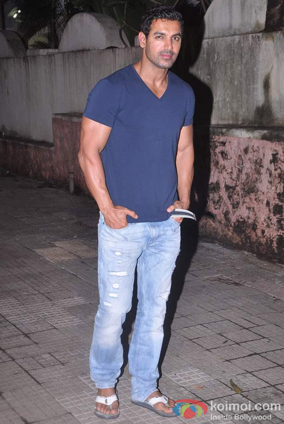 John Abraham At Bol Bachchan Movie Screening