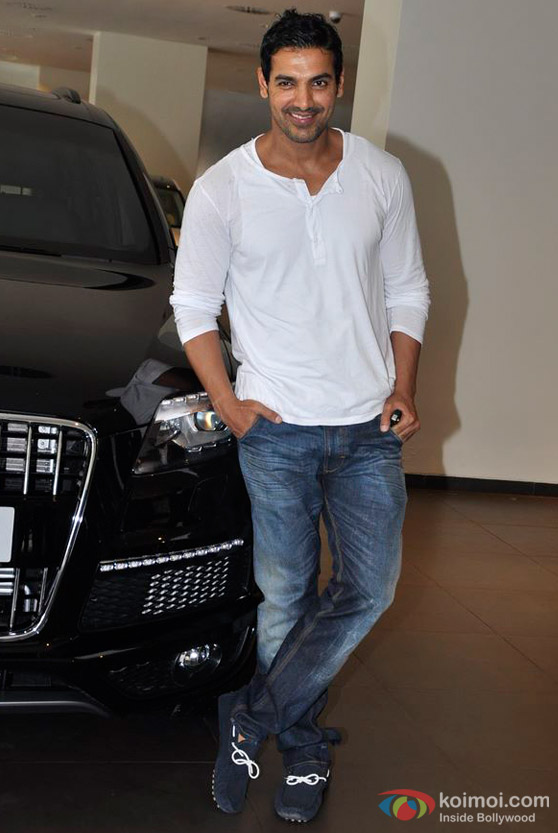 John Abraham with his car Audi Q7