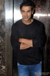 John Abraham sports a shy smile