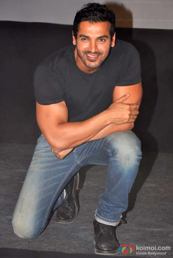 John Abraham shows off his smile