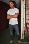 John Abraham poses for the cameras