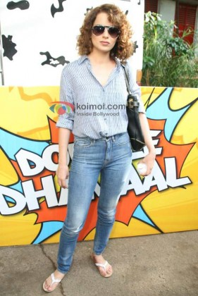 Kangana Ranaut Promote 'Double Dhamaal' Movie
