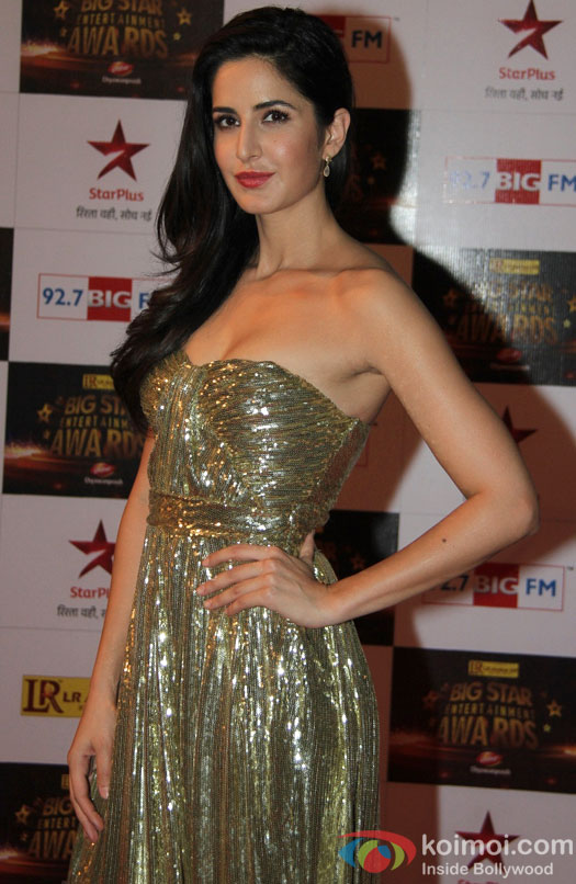 Katrina Kaif at the red carpet of Big Star Awards