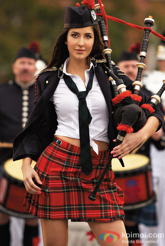 Katrina Kaif with the bagpipe