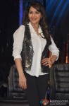 Madhuri Dixit poses during the first look launch of Jhalak Dikhla Jaa Season 6