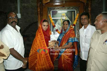 Preity Zinta At Shirdi