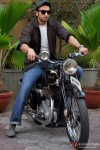 Ranveer Singh on a bike