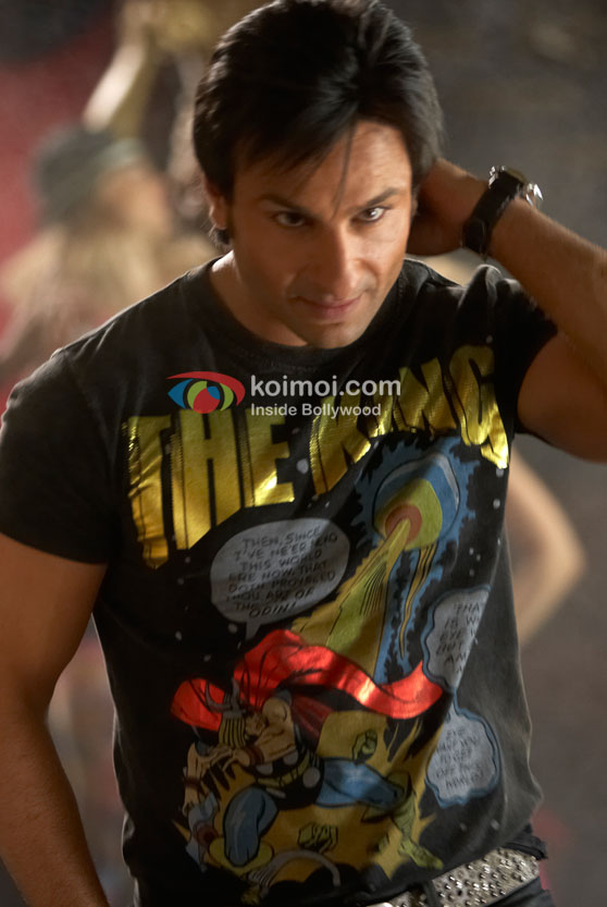Saif Ali Khan in a club in Love Aaj Kal Movie