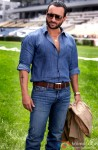 Saif Ali Khan gives a casual pose in blue
