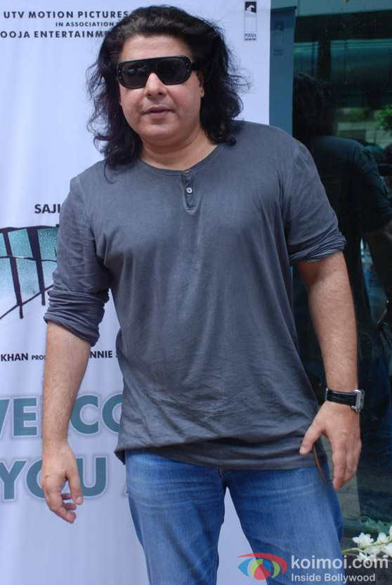 Sajid Khan at song Recording for Himmatwala movie event