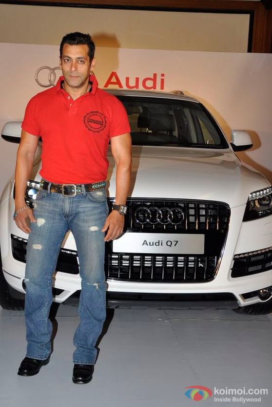 Salman Khan With His Audi Q7 Car