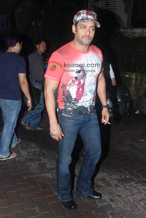 Salman Khan in a cap