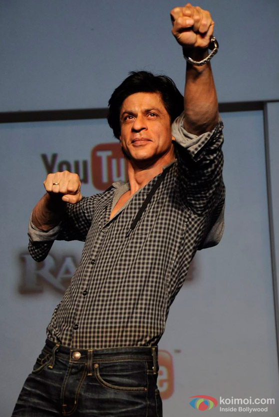 Shah Rukh Khan At 'Ra.One' Movie You Tube Media Meet
