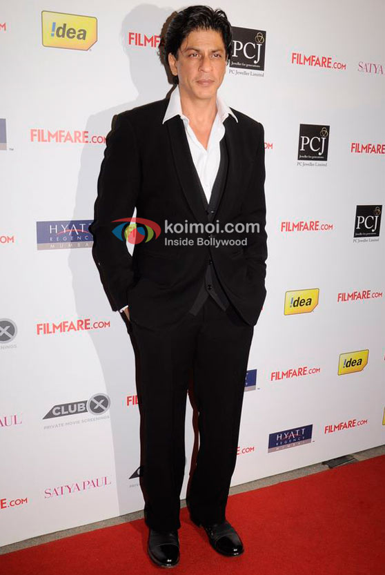 Shah Rukh Khan At 57th Idea Filmfare Awards 2011 Nominations Event