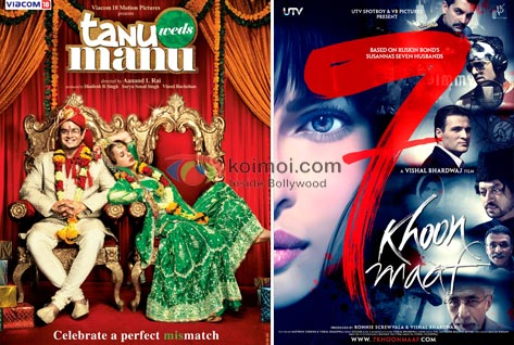 Tanu Weds Manu Does Well, 7 Khoon Maaf Crashes Further