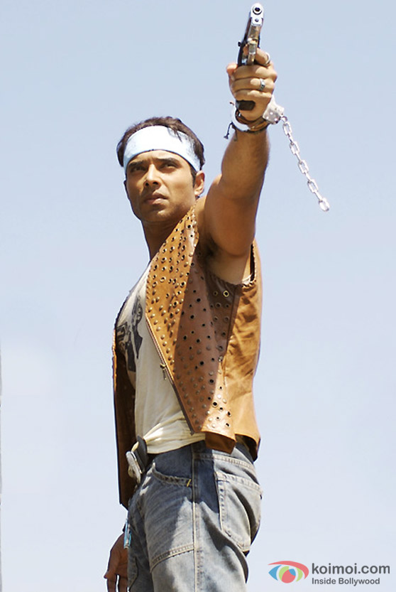 A handcuffed Uday Chopra in Dhoom 2 Movie
