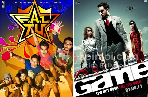 Box-Office: FALTU Drops From Monday; 'Game' Over (FALTU Movie Poster, Game Movie Poster)