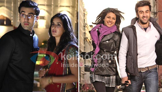 Ranbir Kapoor, Katrina Kaif (Raajneeti Movie Stills), Priyanka Chopra, Ranbir Kapoor (Anjaana Anjaani Movie Stills)