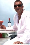 Sanjay Dutt with a drink in Blue Movie