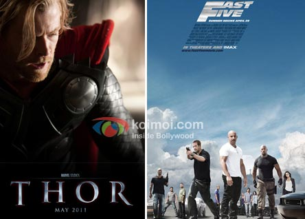 Thor Tops US Box-Office With $65.7 Million (Thor Movie Poster, Fast Five Movie Poster)
