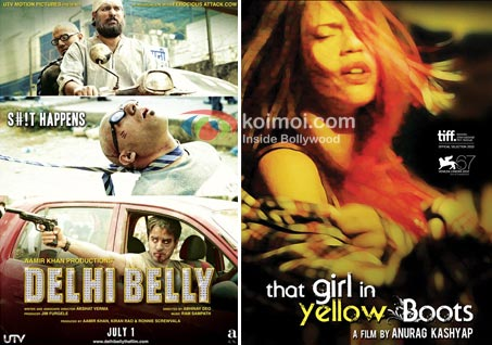 Delhi Belly Movie Poster, That Girl In Yellow Boots Movie Poster