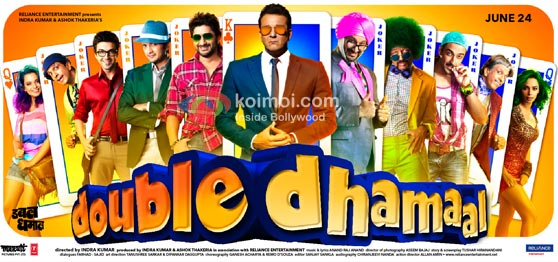 Double Dhamaal box office report (Double Dhamaal Movie Poster)