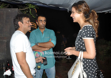 Image & Caption: Heroine-Director: Kangana Ranaut and Ram Gopal Varma share a joke.