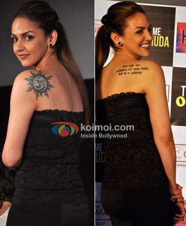 Esha Deol Tattoo Photos