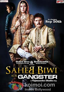 Saheb Biwi Aur Gangster Review (Saheb Biwi Aur Gangster Movie Poster)