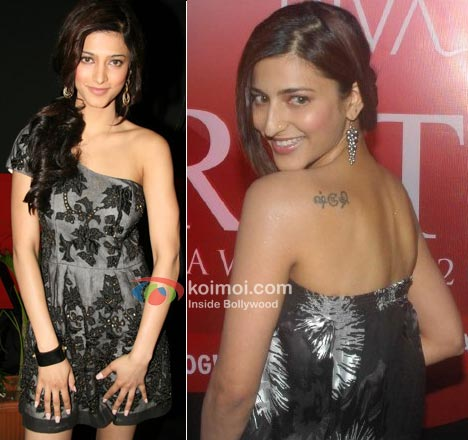 Shruti Haasan Tattoo Photos
