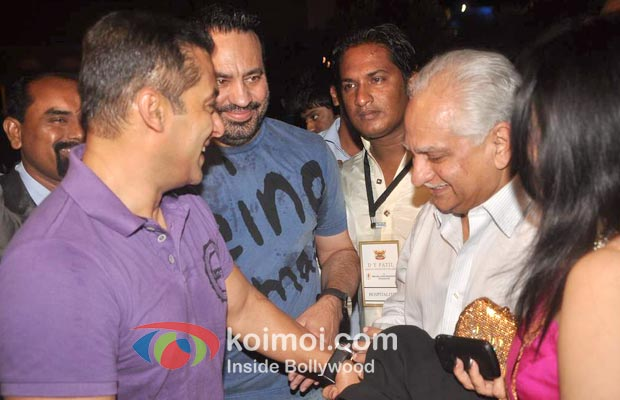 Salman Khan, Shera, Ramesh Sippy, At D Y Patil Achievers Awards
