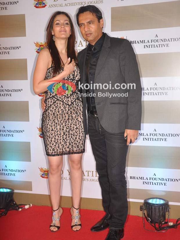 Waluscha Robinson, Marc Robinson At D Y Patil Achievers Awards