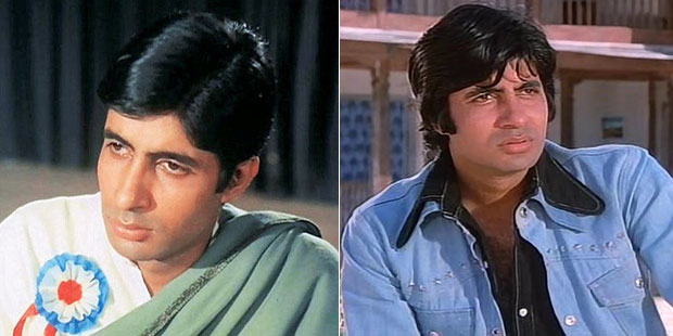 Amitabh Bachchan in stills from Anand & Sholay