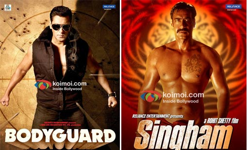 Bodyguard, Singham Movie Poster
