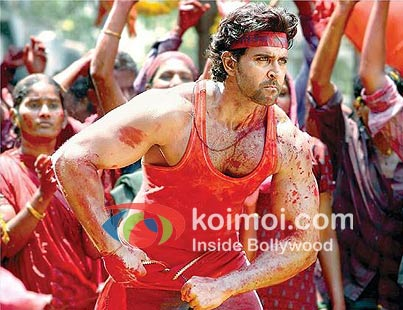 Hrithik Roshan in a still from Agneepath