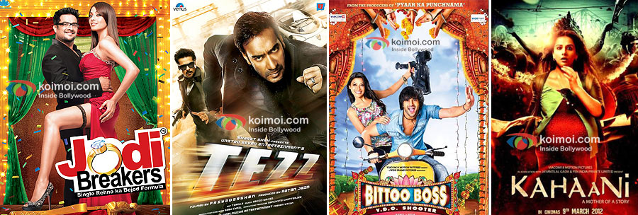 Posters of Jodi Breakers, Tezz, Bittoo Boss, Kahaani