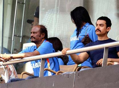 Rajnikanth, Aamir Khan At World Cup Finals