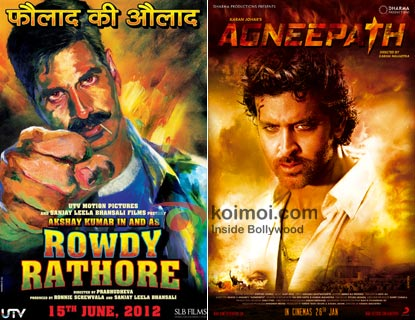 Rowdy Rathore and Agneepath Movie Posters