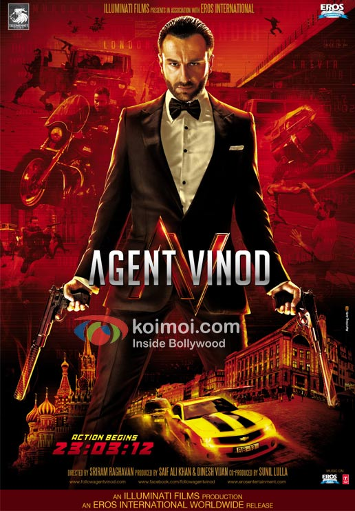 Saif Ali Khan (Agent Vinod Movie Poster)